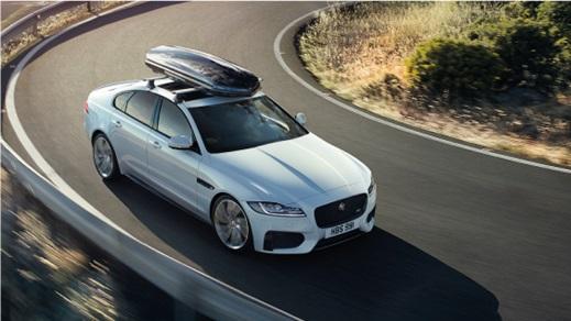 Jaguar XF in white.