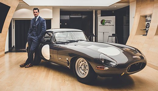 David Gandy visits the Jaguar E type.