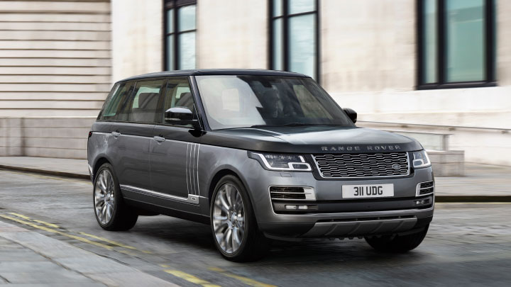 Land Rover Range Rover in grey.