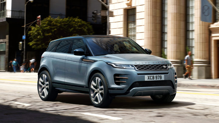 Land Rover Range Rover Evoque in grey.