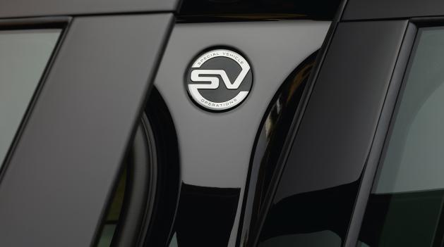 Land Rover SVR badge.