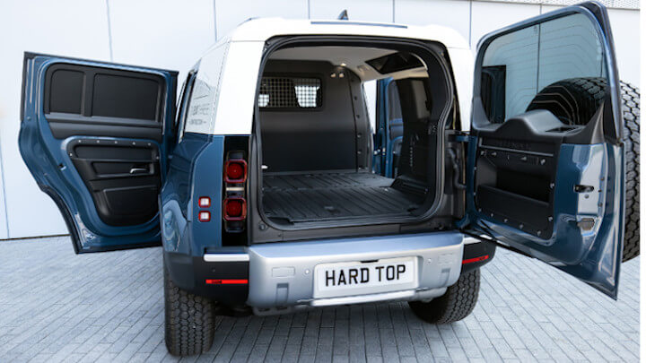 Land Rover Defender Hard Top Load Space