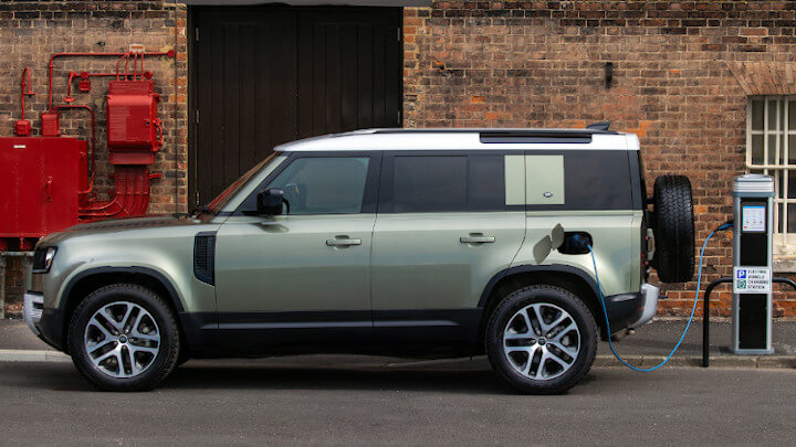Land Rover Defender PHEV Being Charged