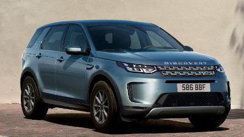 Blue Land Rover Discovery Sport Plug-In Hybrid