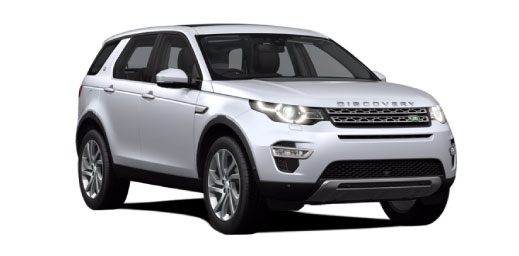 Land Rover Discovery Sport in silver.