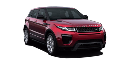 Range Rover Evoque in red.
