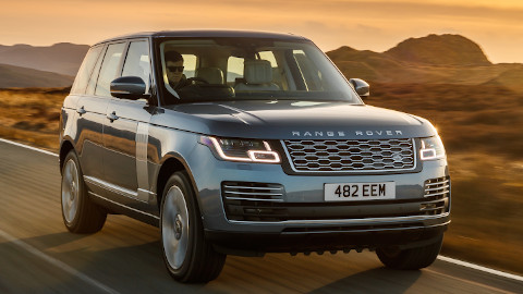 Silver Range Rover Plug-In Hybrid Front Driving