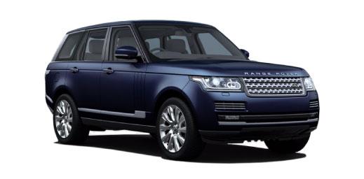 Range Rover in blue.