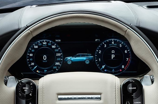 Interactive Driver Display in the Range Rover Velar.