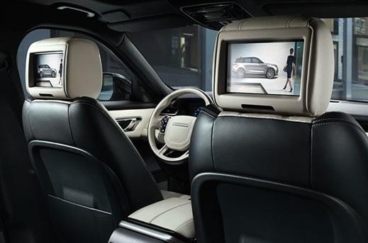 Rear Seat Entertainment in the Range Rover Velar.