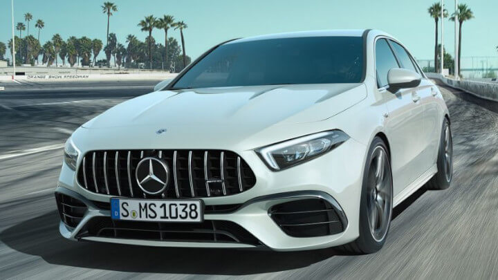Mercedes-AMG A 45 Exterior Front Driving