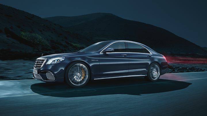Mercedes-Benz S-Class on the road.