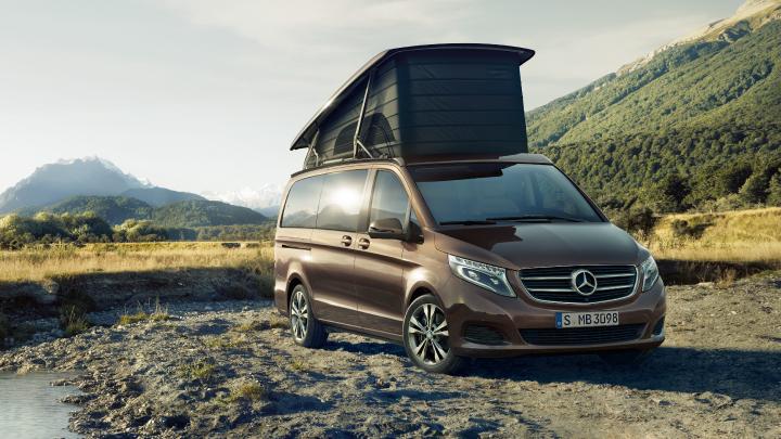Mercedes-Benz V-Class parked.