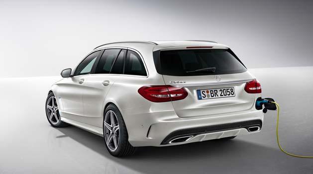 White Mercedes Benz.