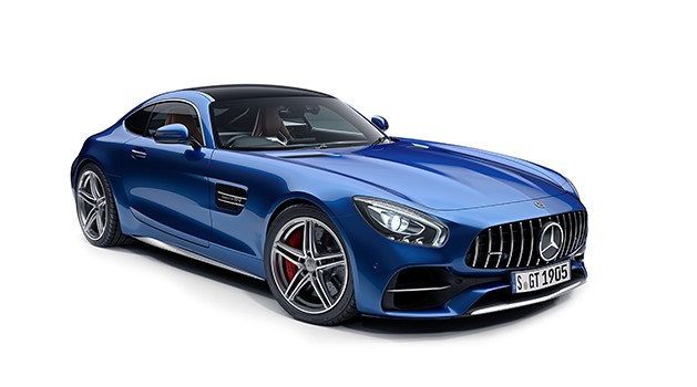 Mercedes-AMG GT Coupe in blue.