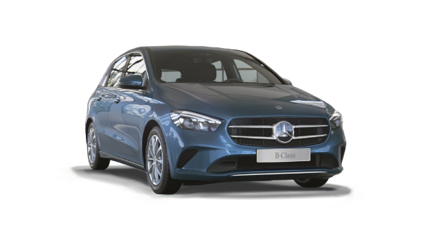 Mercedes-Benz B-Class Sport in blue.