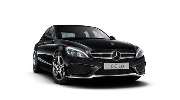 Mercedes-Benz C-Class AMG Line in black.