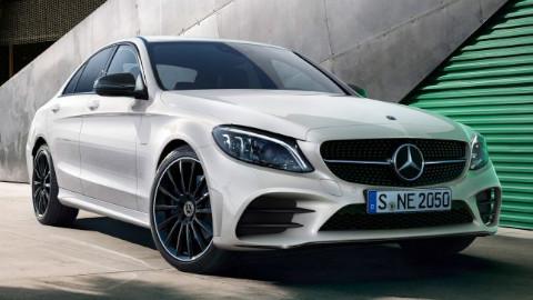 White Mercedes-Benz C-Class