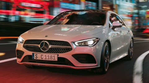 Mercedes Benz CLA Driving
