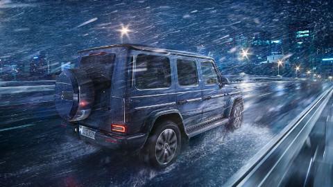 Mercedes-Benz G-Class Driving at Night