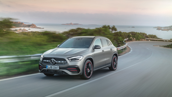 Mercedes-Benz GLA on the road