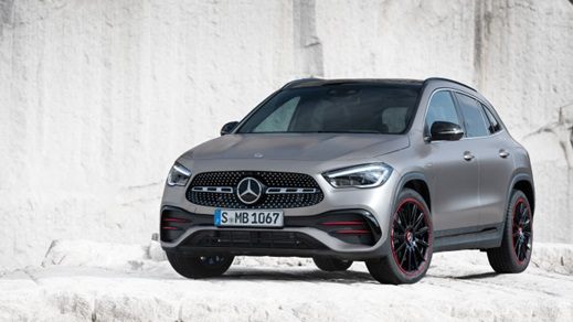 Exterior view of the Mercedes-Benz GLA
