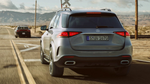 Mercedes-Benz GLE Driving, Rear