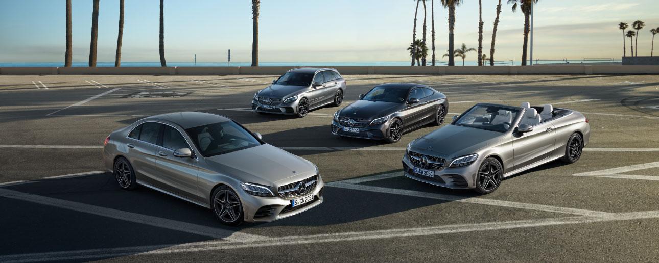 Mercedes-Benz C-Class parked.