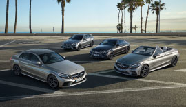 Mercedes-Benz C-Class parked in the car park.