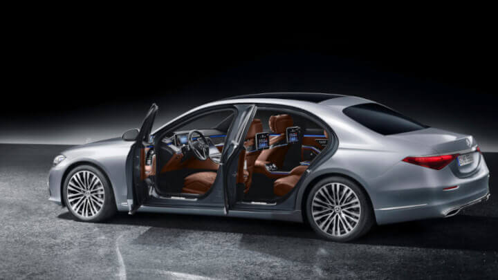 2021 Mercedes-Benz S-class Side Doors Open