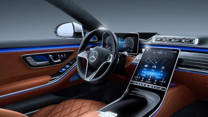 2021 Mercedes-Benz S-class Interior Passenger View