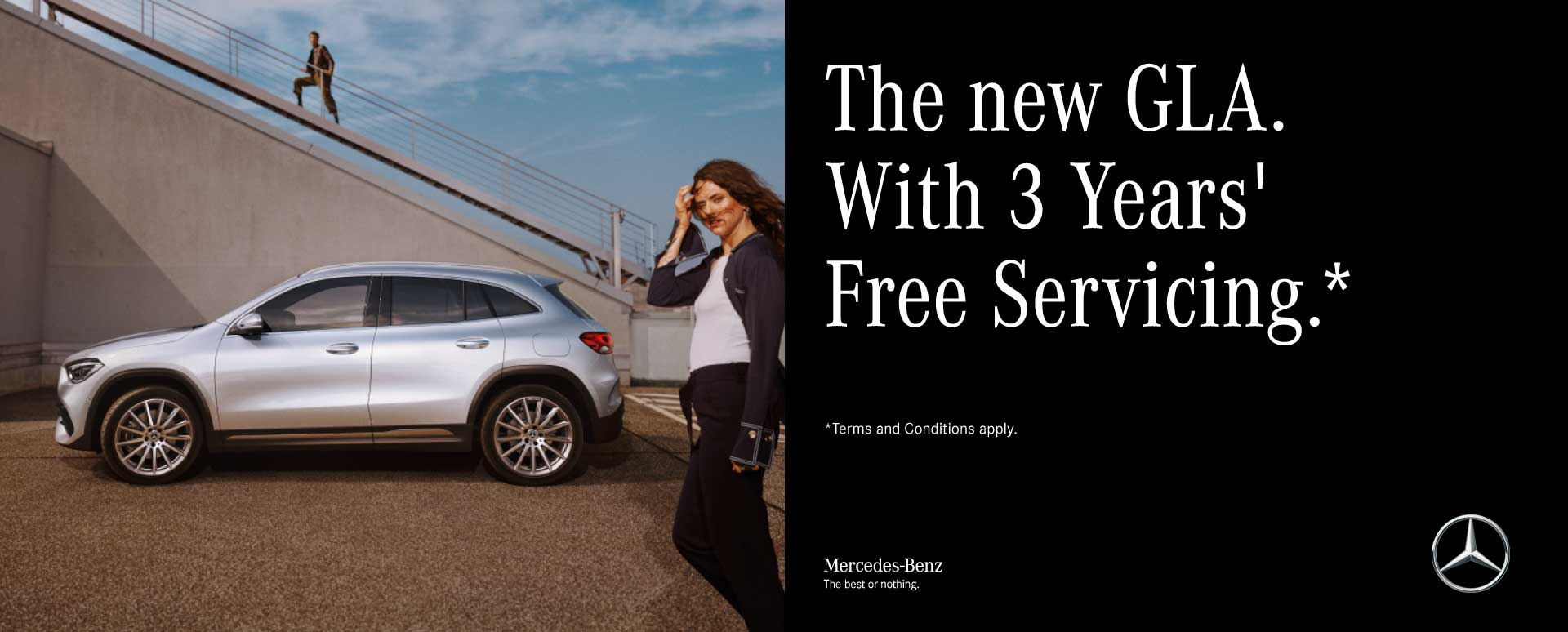 3 Year's Free Servicing with the New GLA