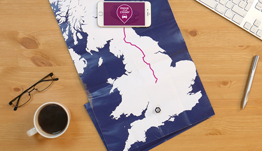 Map on the table