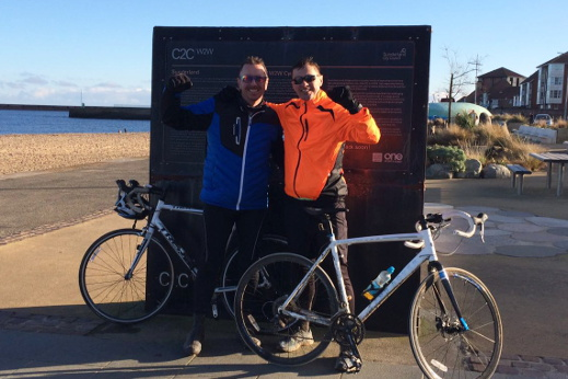 stratstone land rover stockton charity bike ride