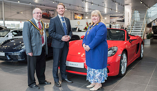 mayor visits porsche wolverhampton