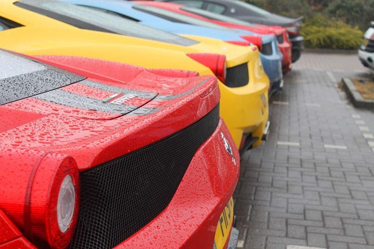 Ferrari at car cafe