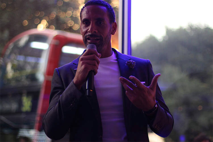 rio ferdinand at aston martin mayfair