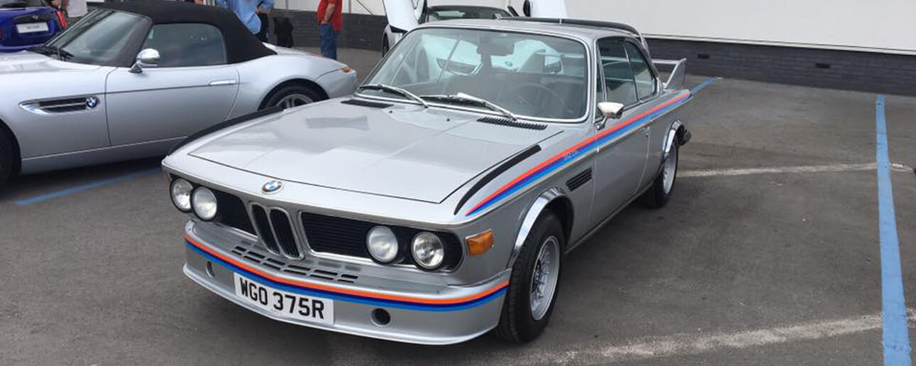 classic bmw at car cafe wilmslow