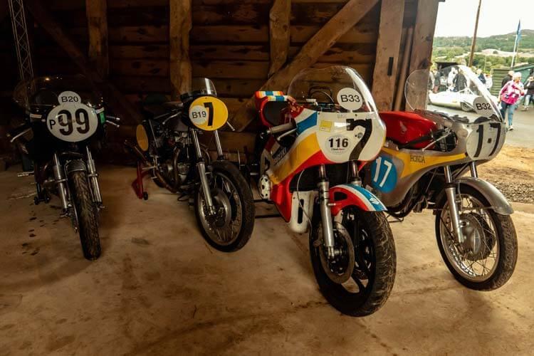 classic motorbikes at shelsley walsh classic nostalgia