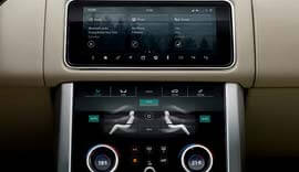 range rover touch screen
