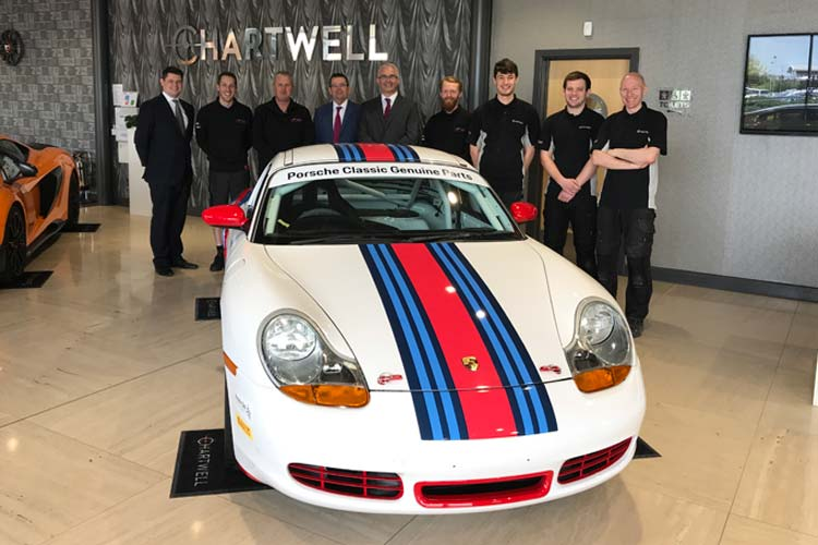 Porsche Centre Nottingham Martini Boxster at Chartwell