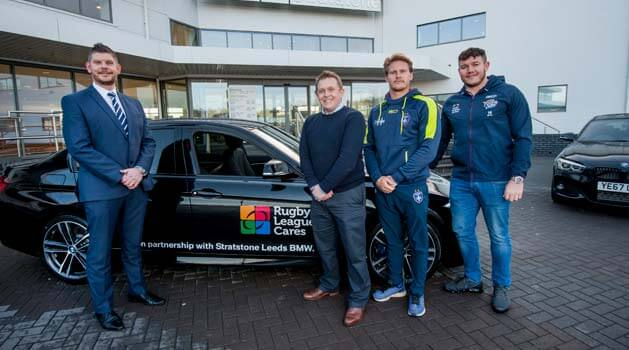 bmw leeds partners with rugby league cares