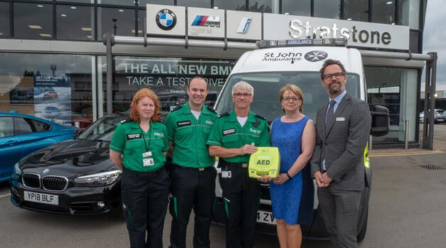 defibrillators fitted at stratstone dealerships