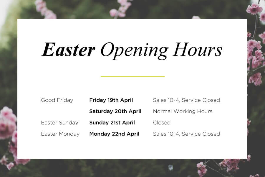 stratstone dealership opening hours for easter