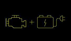 Plug in Hybrid Electric Vehicles symbol.