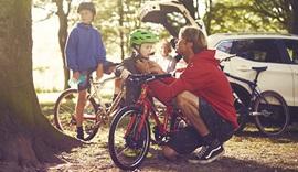 Family bike ride.