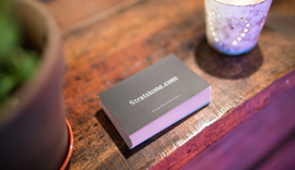 Stratstone business cards.