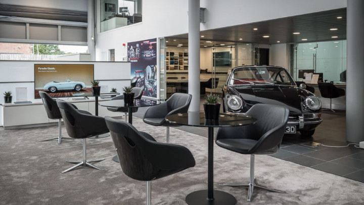 Porsche Servicing Waiting Area