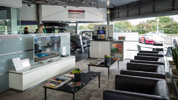 Porsche Customer Waiting Area