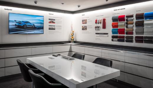 Porsche Configuration Lounge.